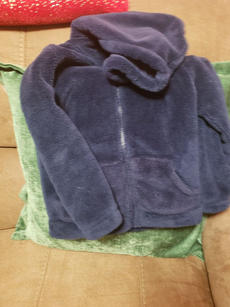 carters cozy blue sweater size 5