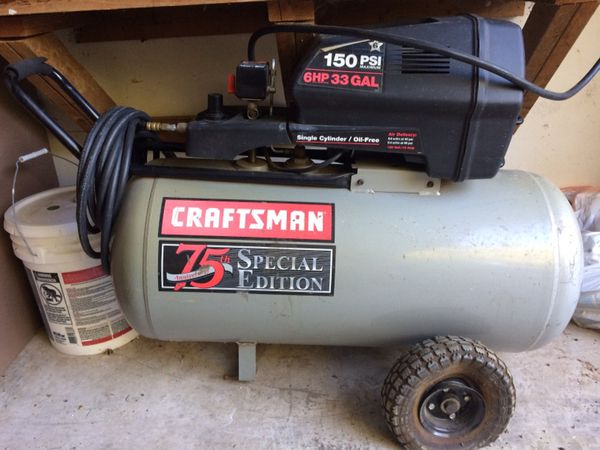 Craftsman Air Compressor Special Edition 75th Anniversary for Sale in  Fresno, CA - OfferUp