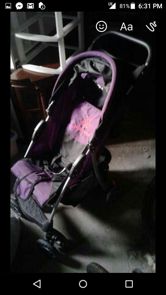 Baby or toddler stroller.