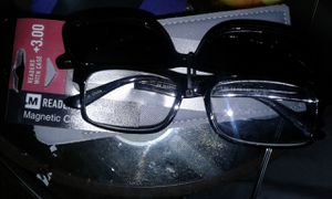 Magnetic reading glasses with sunglasses for Sale in Manassas, VA