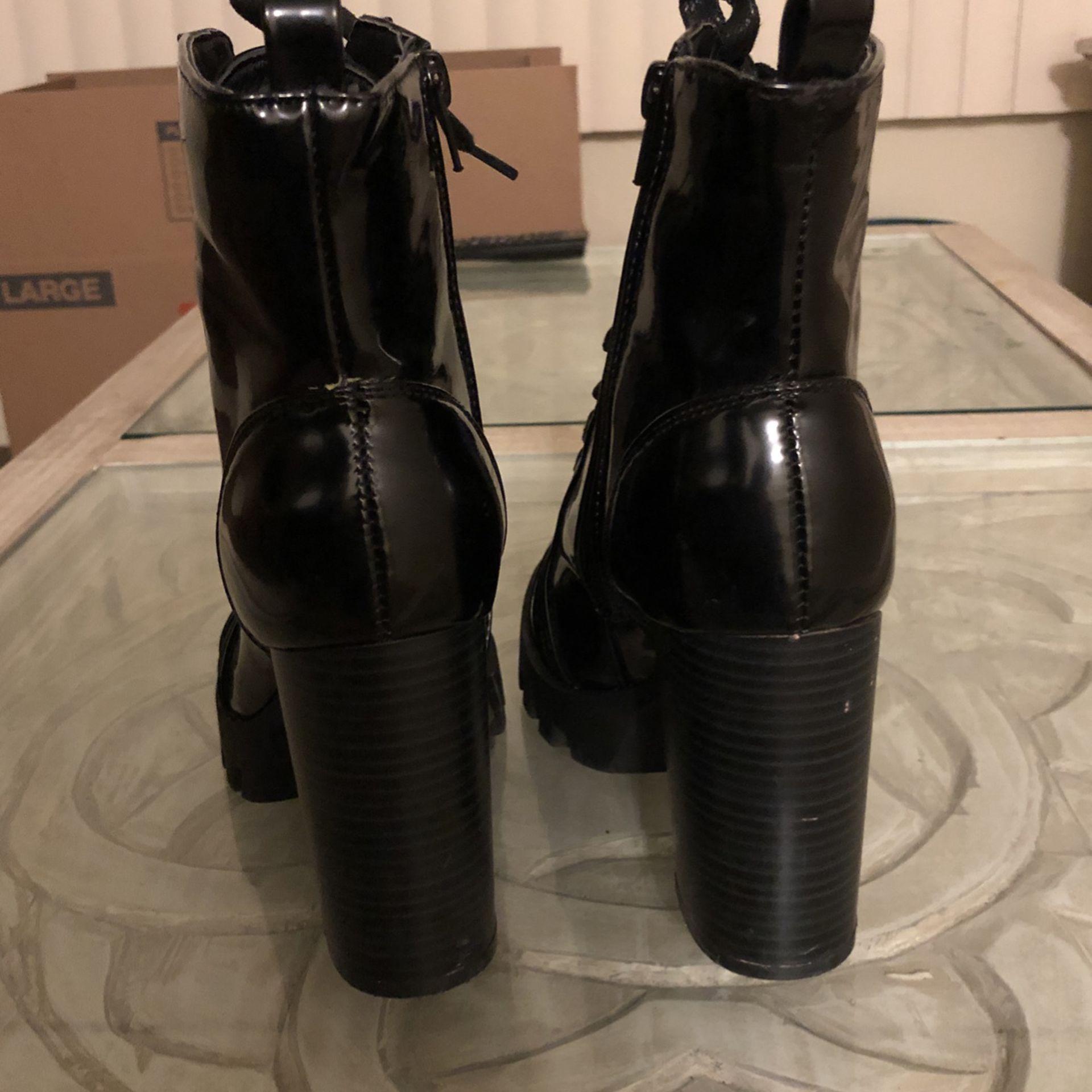 Combat Boots With Heel