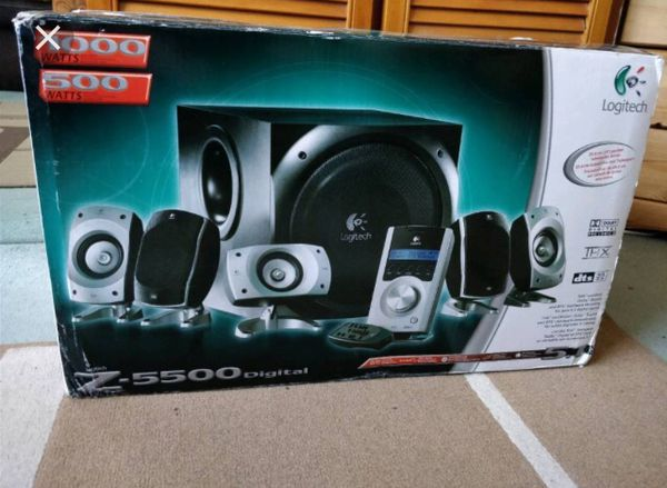 ea1e49ab3bc Logitech Z-5500 5.1 Home Theater/Gaming/PC Speaker System, 1000W w/10