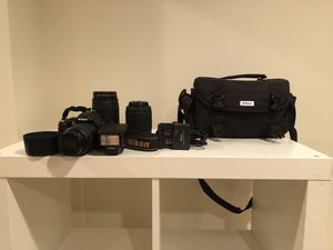 Nikon D40 Camera, Lenses, Flashes and more see description. for Sale in Washington, DC