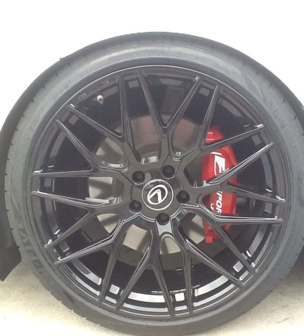 "20""new Glossy Black Varro Wheels/new Tires For LEXUS GS350"
