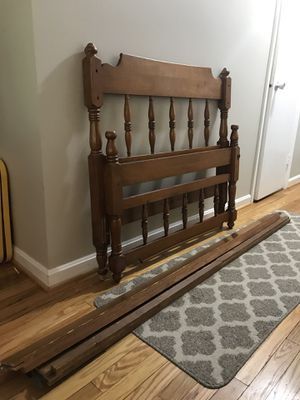 Solid wood twin bed for Sale in Reston, VA