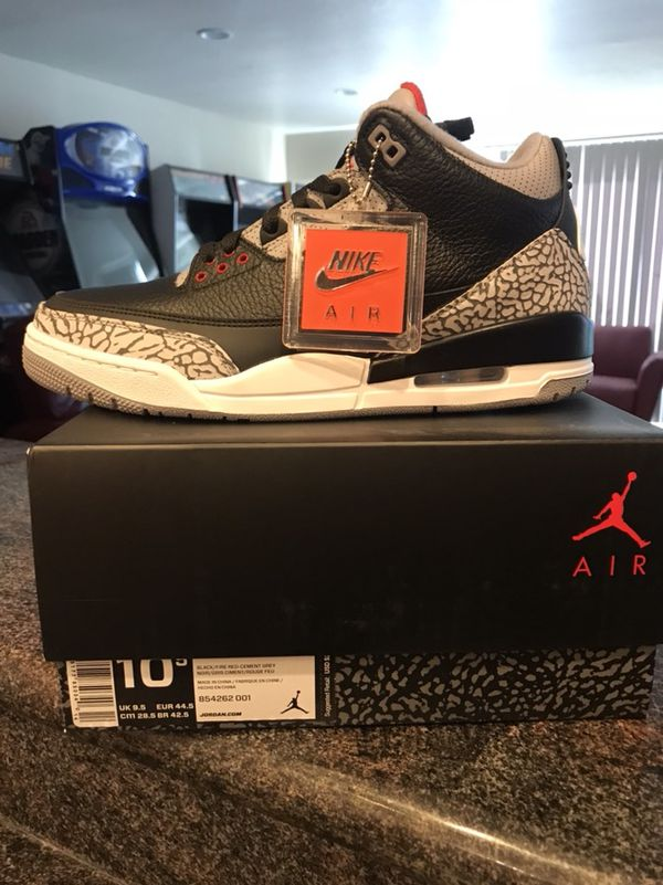 "newest collection 6a6d1 d0666 Jordan 3 ""Black Cement"" SiZe 10.5 for Sale in Campbell, CA - OfferUp"
