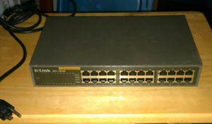 24‑Port Fast Ethernet Unmanaged Desktop Switch DLINK DES‑1024D for Sale in Midlothian, VA