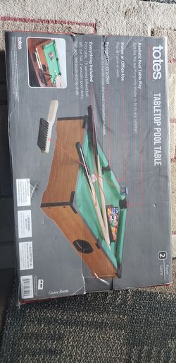Totes Tabletop Pool Table Portable 2 Player Fun Thumbnail