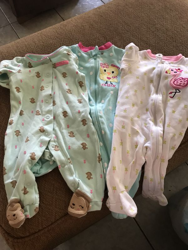 db313d1c64bf Baby girl sleepers (size 3-6 months) for Sale in Chandler