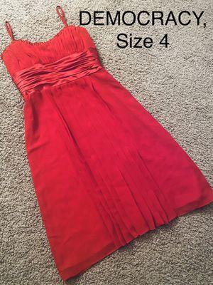 Photo DEMOCRACY, Hot Red Sleeveless Dress, Size 4
