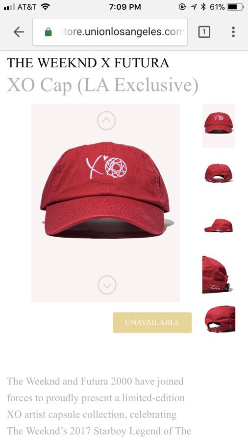 78b7d7cb2bd The Weeknd x Futura XO dad hat for Sale in Irvine