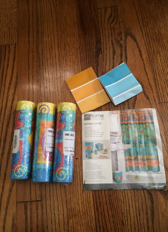 Set of 3 new Coral Reef wallpaper Borders
