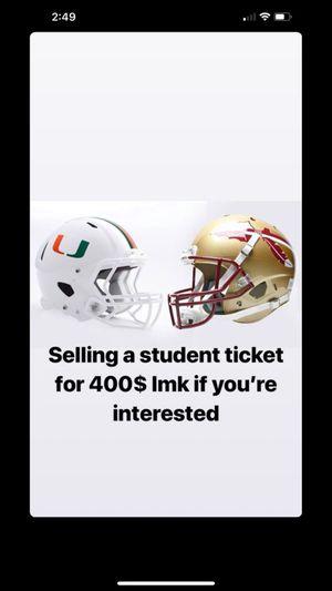 UM vs FSU for Sale in Miami, FL
