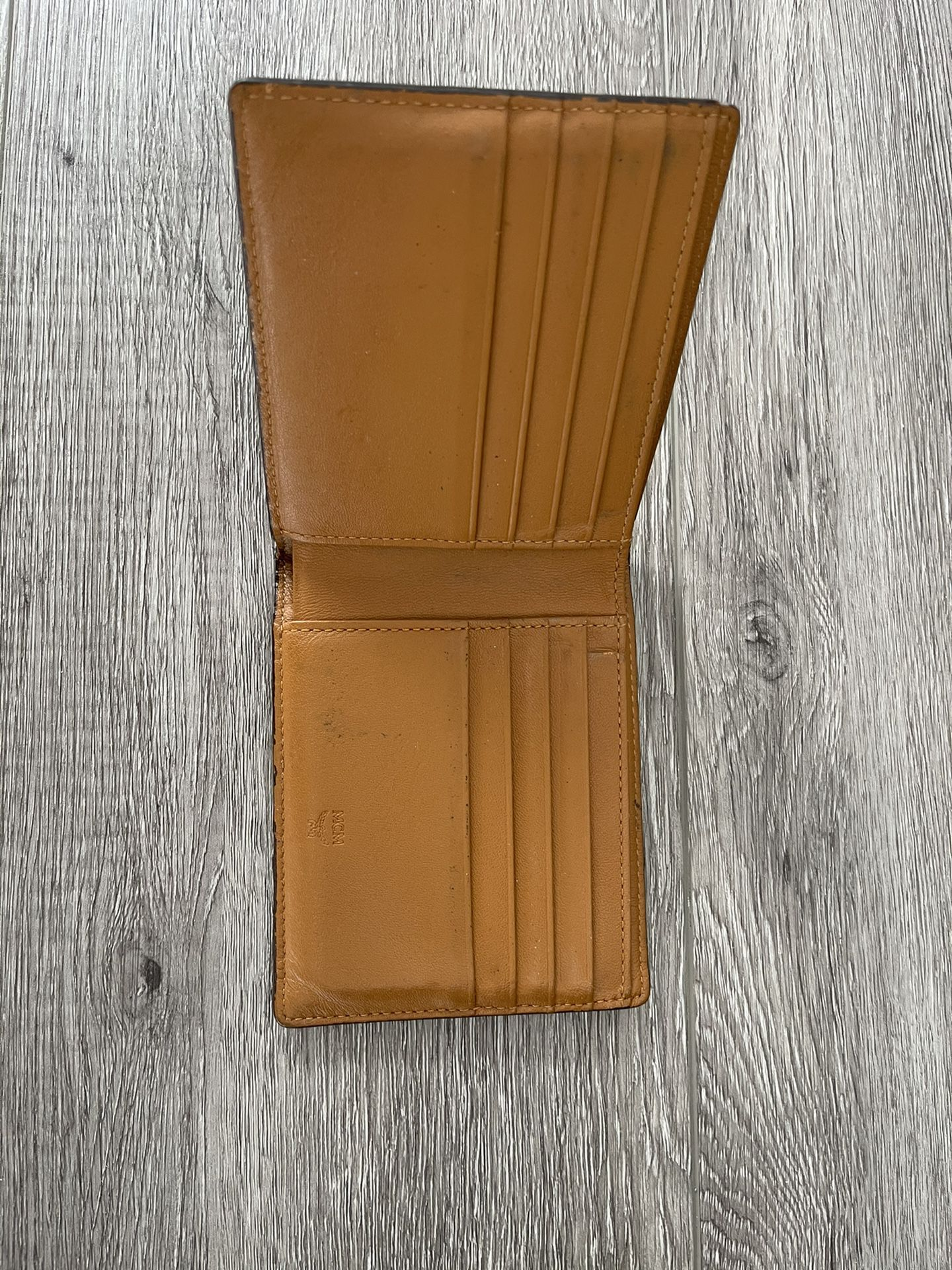 MCM Monogram Wallet Cognac