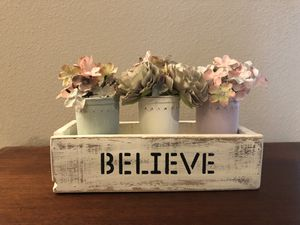 Farmhouse shabby chic Believe box for Sale in Clermont, FL