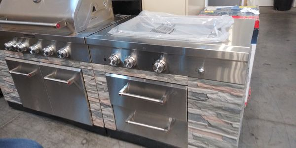 Bbq Kitchenaid Stone Island In 9 Burner Grill New Retail Value 3 400 My Price Is 2 500 For