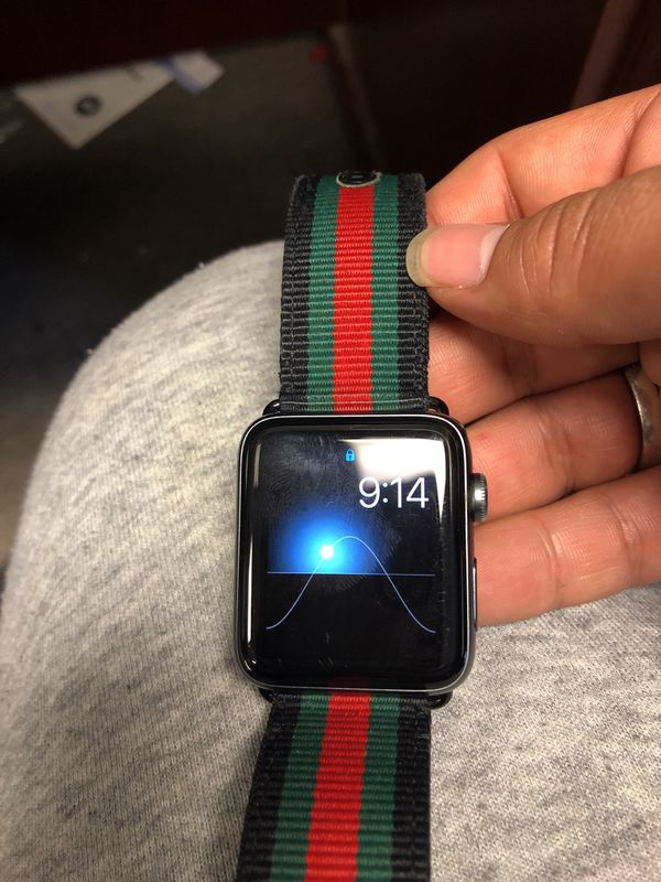 8e507a8bcc3 Apple Watch series 2 with AppleCare insurance Gucci band for Sale in ...