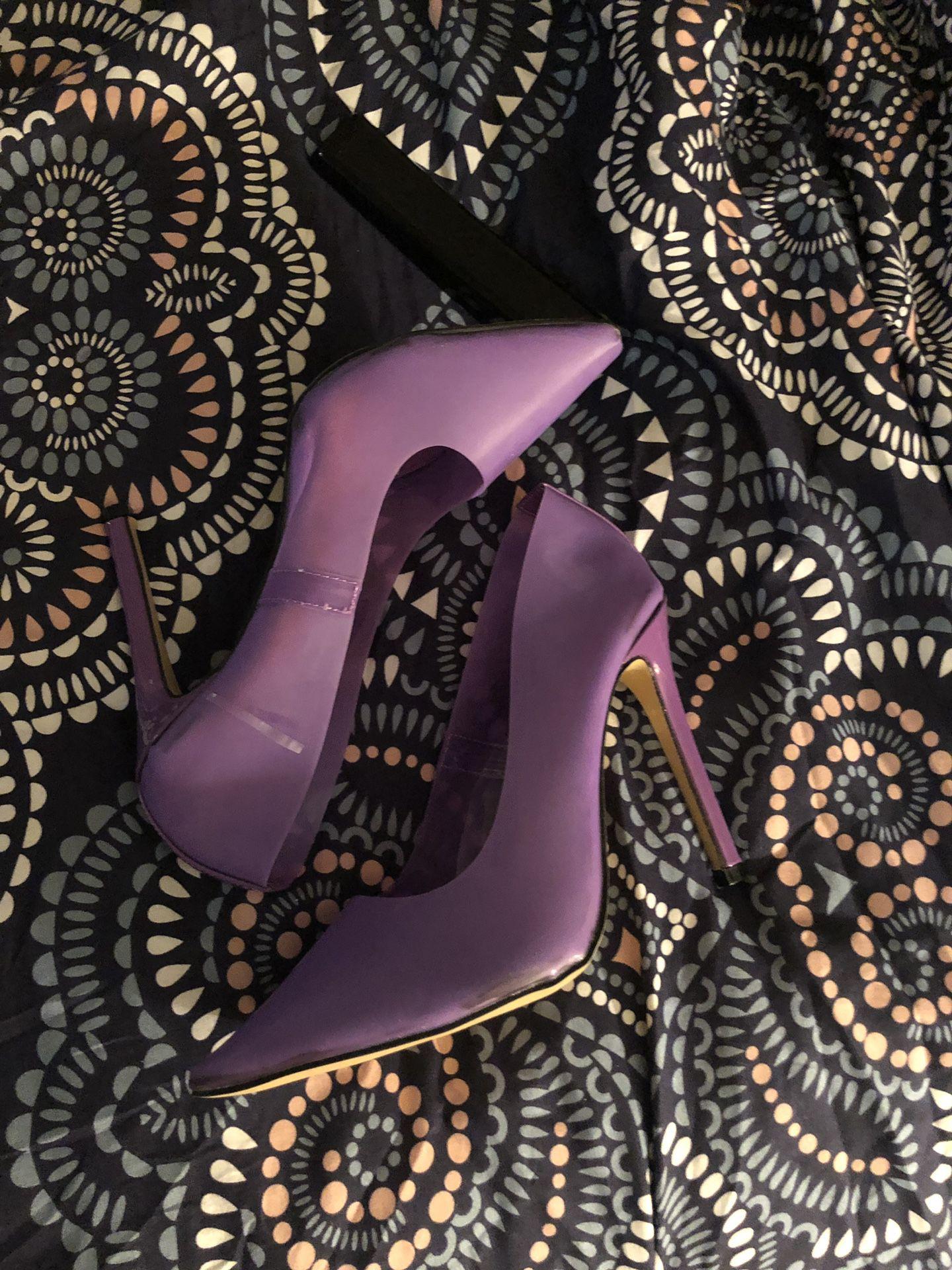 Purple perplex brand new heels size 9