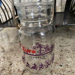 """1992 Disney France jelly beans jar vintage Europe Disney 5"""" Thumbnail"""