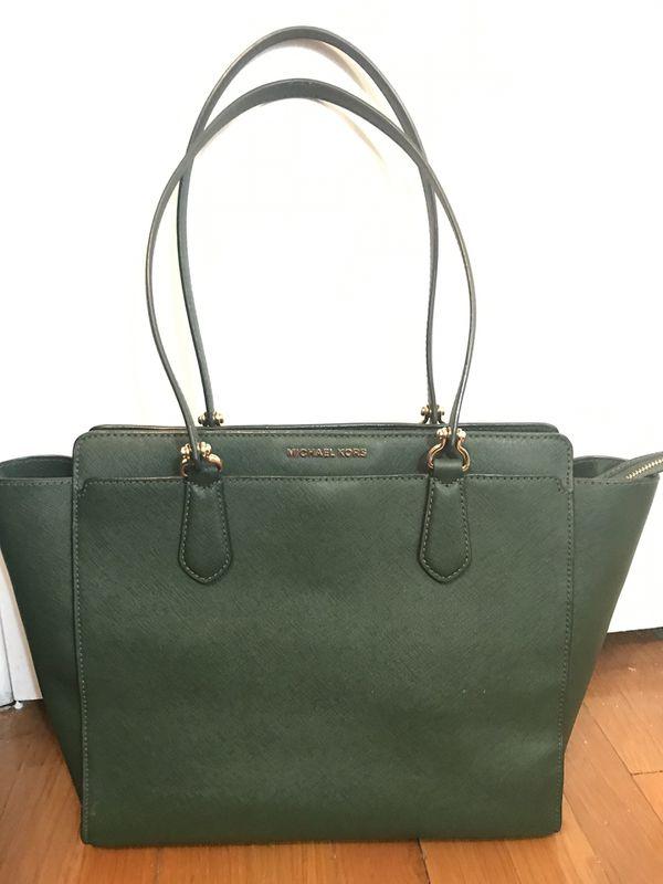 97c85792cfb2 Michael Kors emerald green large purse for Sale in Newport News, VA ...