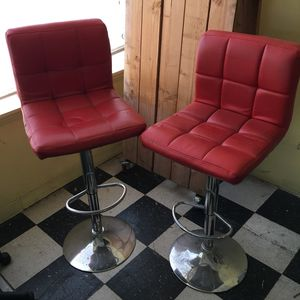 2 red cushioned bar stools for Sale in Portland, OR