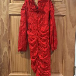 Bebe Ella Lace Cold Shoulder Ruched Mini Dress XXS Thumbnail