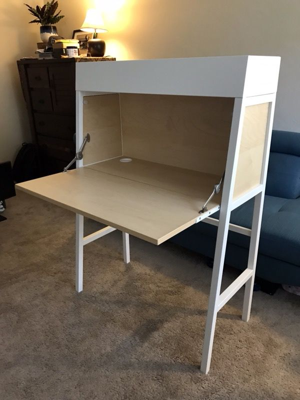 Ikea Ps 2017 Secretary Desk White Birch Veneer 199 00 Plus Tax At Dimensions 35 3 8 X 50 Gently Used For