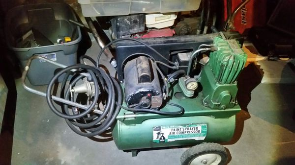 Sears 100psi Twin Cylinder Paint Sprayer Air Compressor