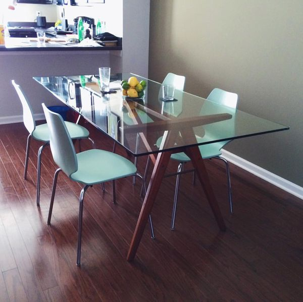 BRAND NEW WEST ELM JENSEN DINING TABLE CHAIRS For Sale In - West elm jensen dining table