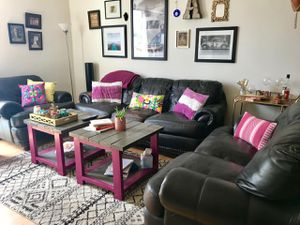 Leather Couch, loveseat, and chair. for Sale in San Diego, CA