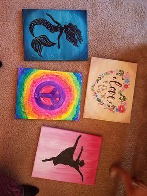 Hand painted acrylic paintings for Sale in Philadelphia, PA