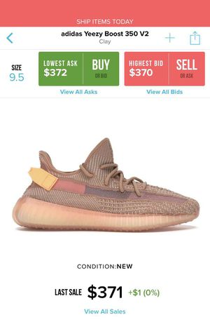 1a80119d Adidas Yeezy Boost 350 V2 Clay for Sale in San Antonio, TX