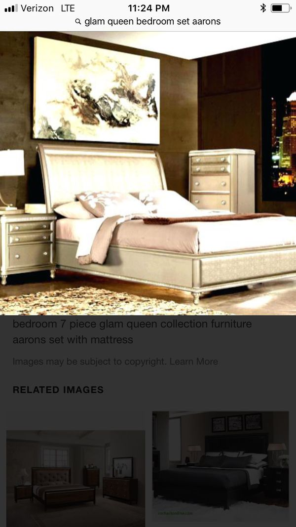 Excellent condition glam queen bedroom set! Includes bed frame ...
