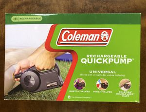 Coleman Rechargeable QuickPump Unit for Sale in Hayward, CA