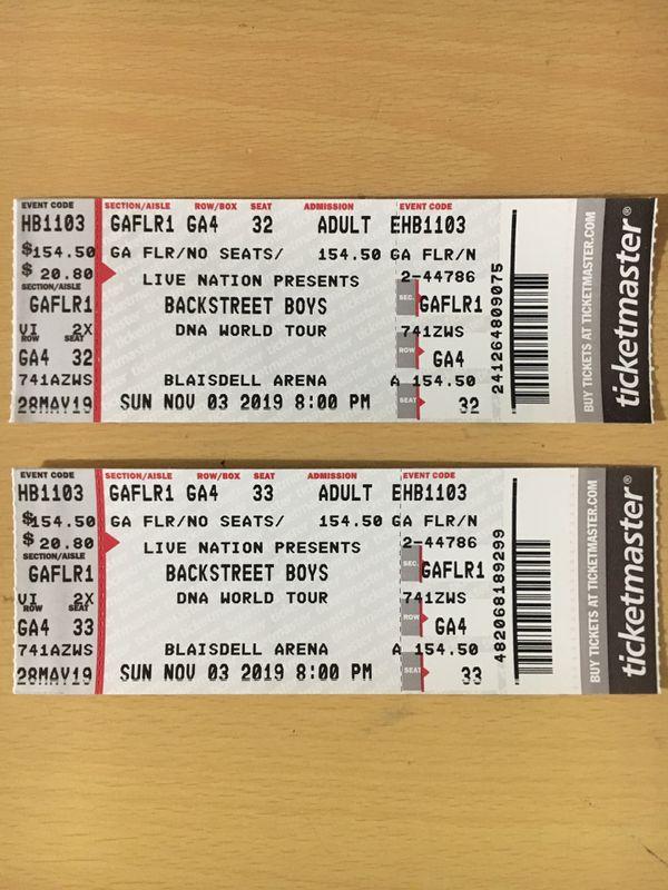 2 Backstreet Boys Tickets for Sale in Pearl City, HI - OfferUp