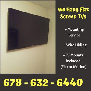Get 2 Tv's Mounting for the price of 1 for Sale in Atlanta, GA