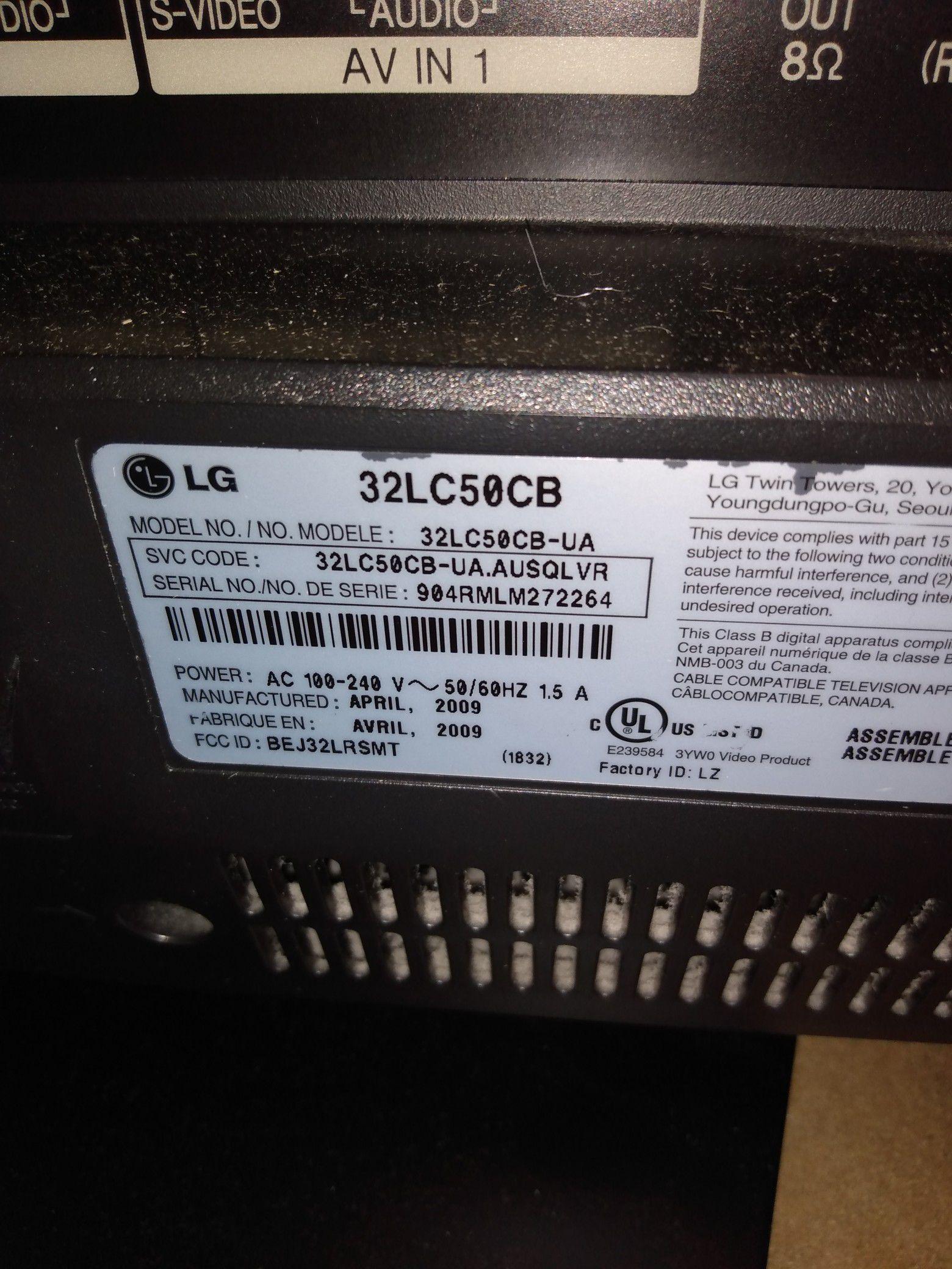 "LG 32"" Flat Screen TV 2 diff models"