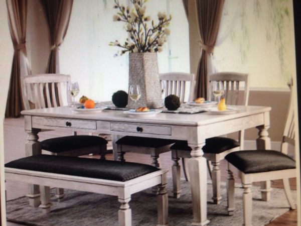 Six Piece Dining Room Set Model CM3089 Furniture Of America San Antonio TX