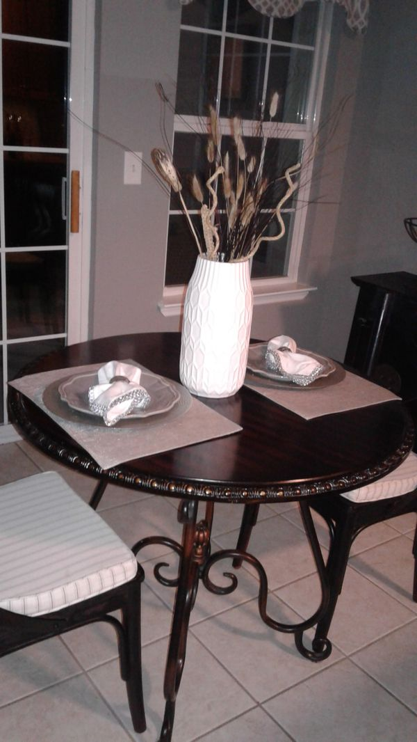 Pier One Carved Bistro Table 36 Inches Round For Sale In Wading River Ny Offerup