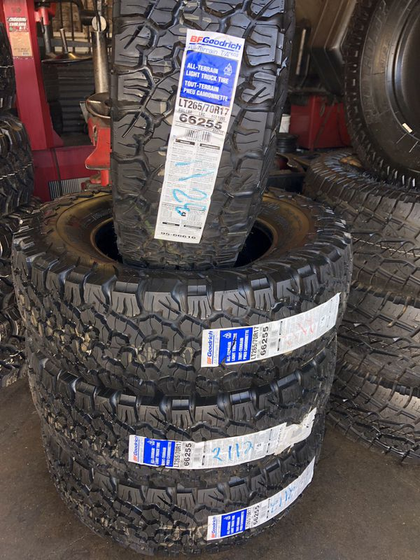 265 70r17 All Terrain Tires >> 265 70r17 Bfgoodrich Ko2 All Terrain Tires 4 For 700 New For Sale In East Los Angeles Ca Offerup