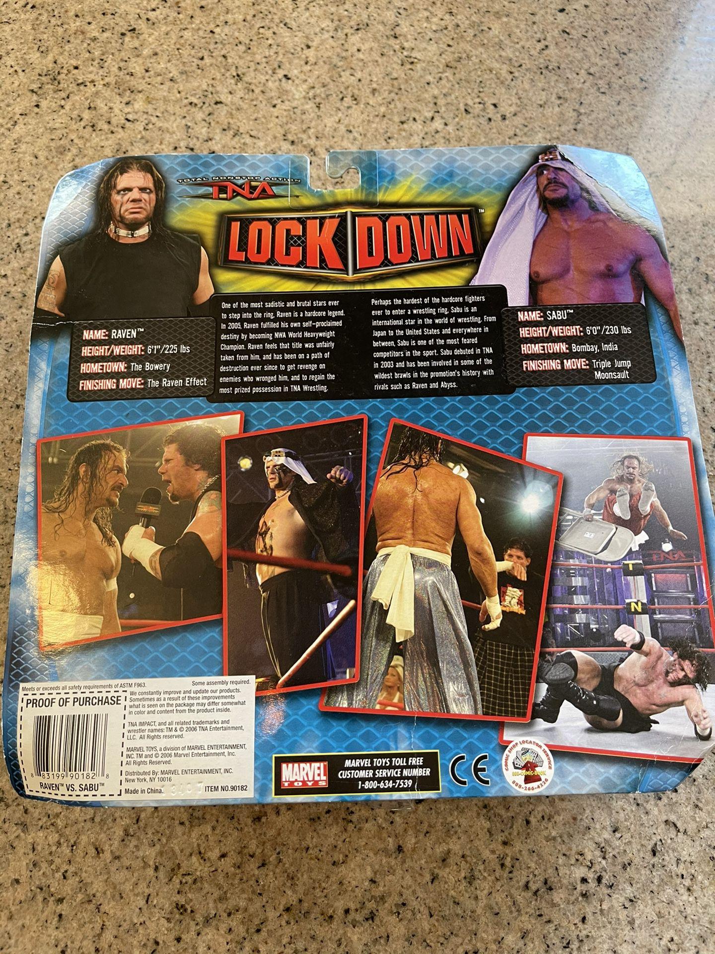 WWE TNA RAVEN vs. SABU WRESTLING FIGURES