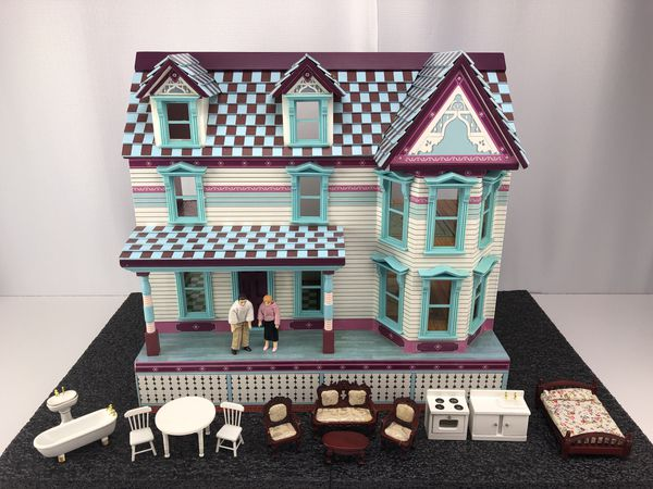 Melissa Doug Wooden Dollhouse Doll House Victorian Style Furniture 124 Scale For Sale In Watertown Ct Offerup
