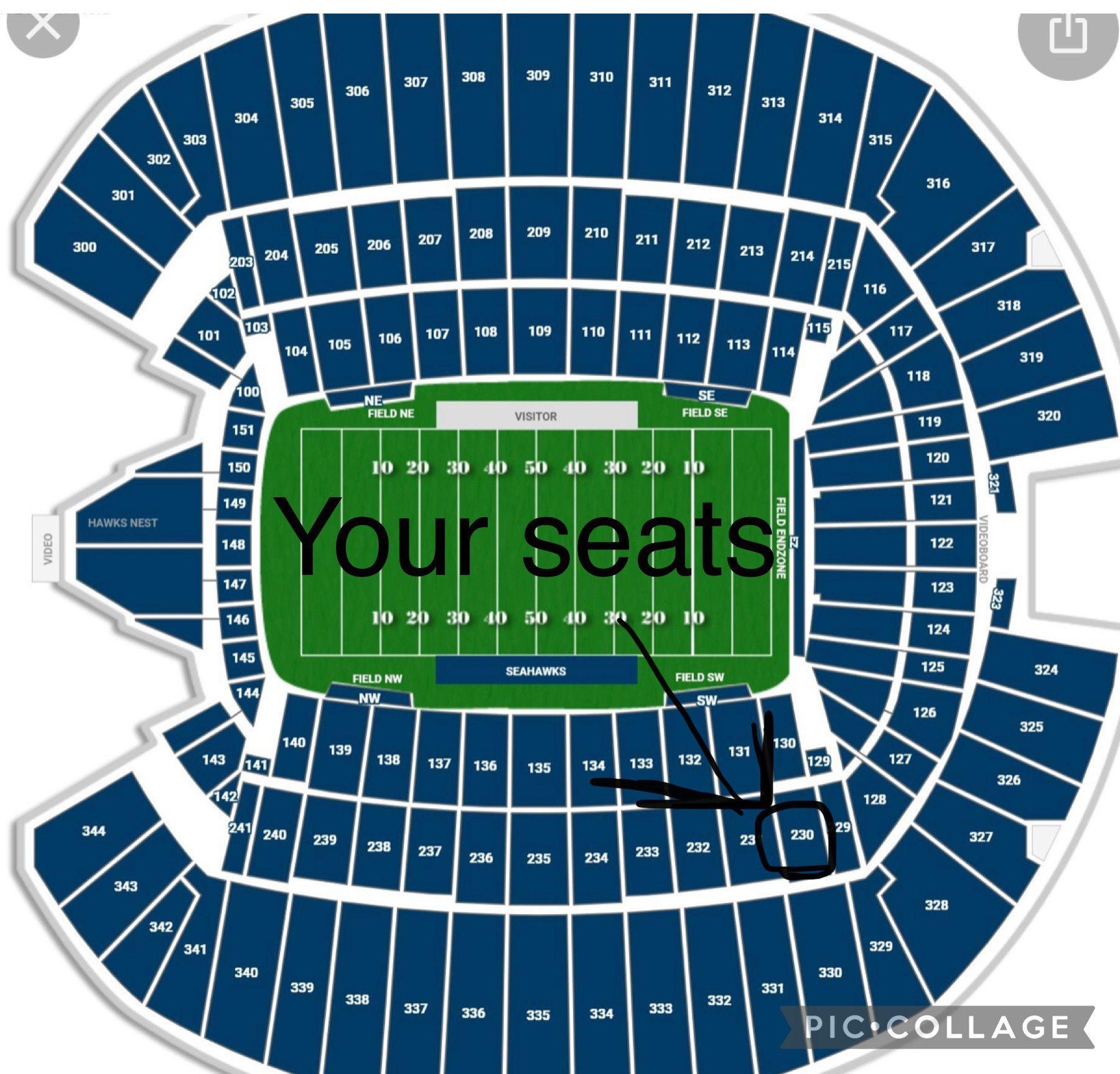 Seahawks Vs Titans Tickets - Home Opener - 200 Level Seats!!