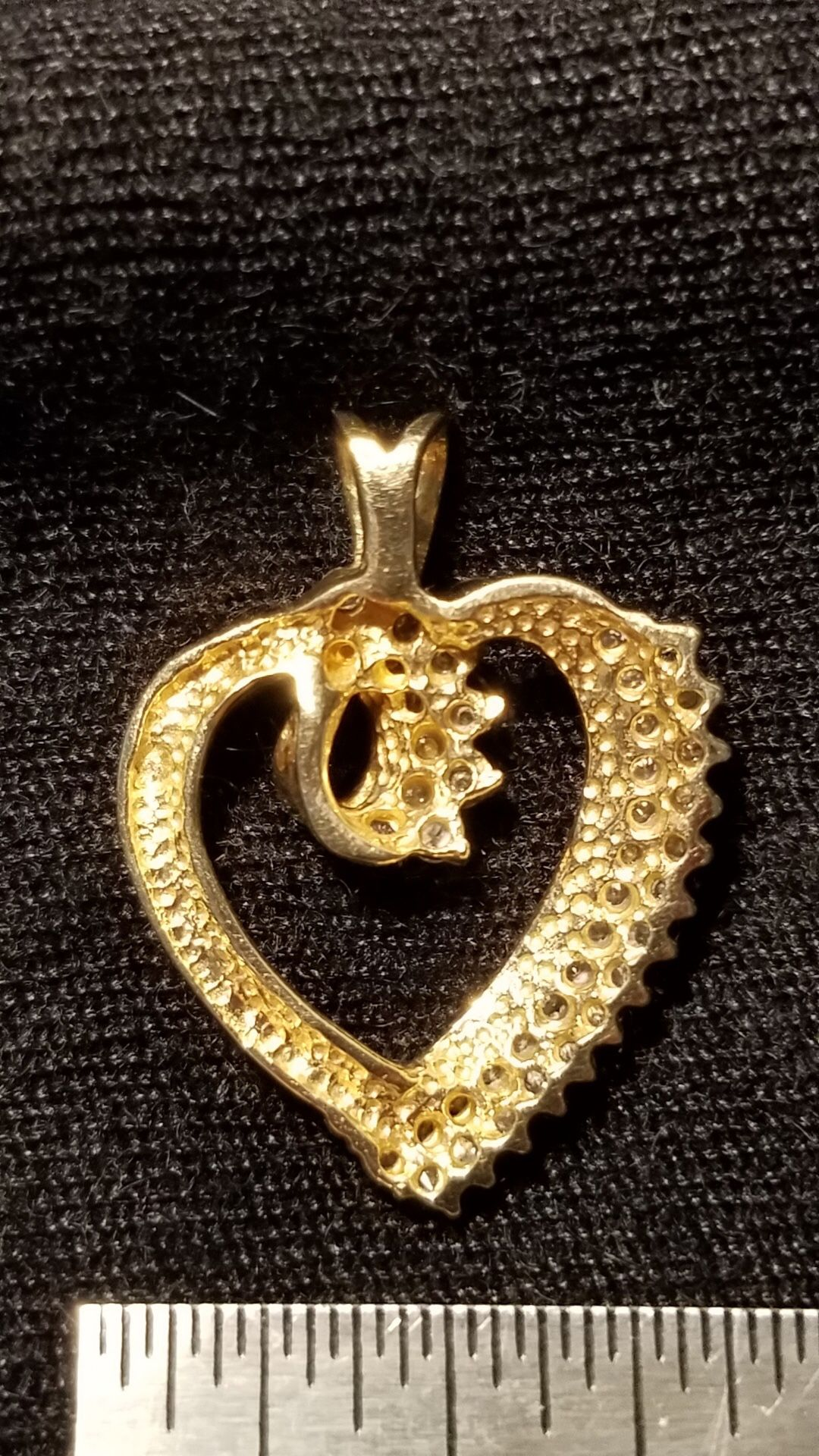 14k 1/2ct. Heart Pendant