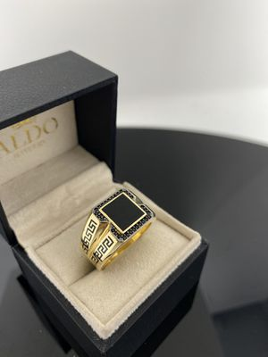 Photo REAL 14k GOLD ✨ Fancy Men Ring TAKE IT HOME NOW PAYING $50 Initial Payment