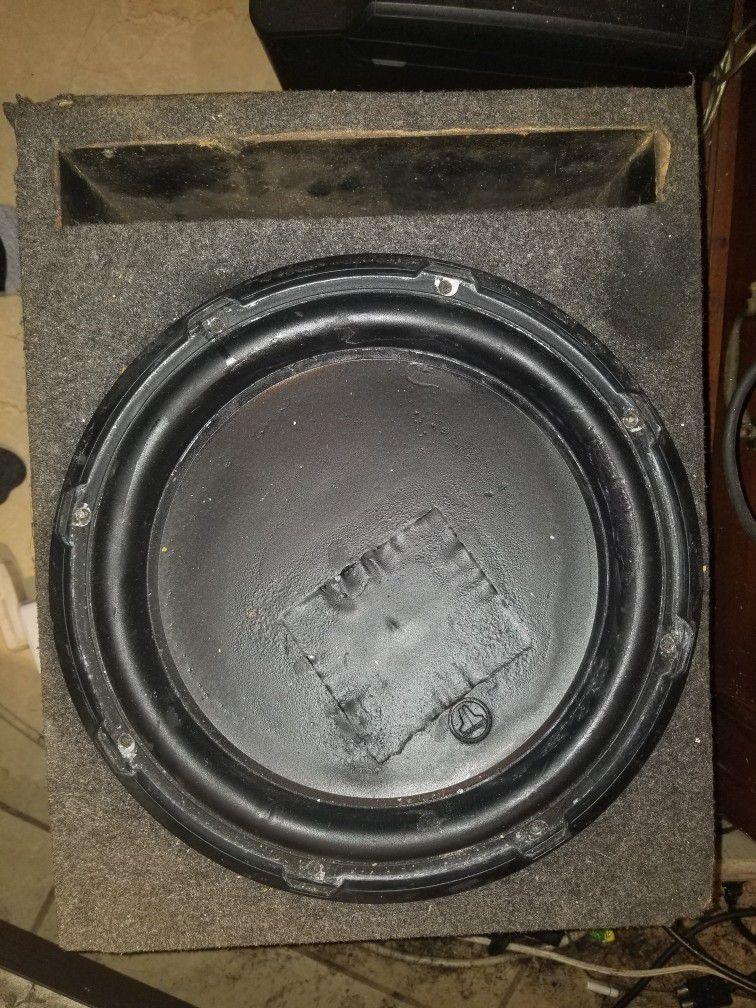 1 - Single Ported Pre Fab 12 Inch Box.  1 - Bass Reflex High Output Duel 12 Inch Box.