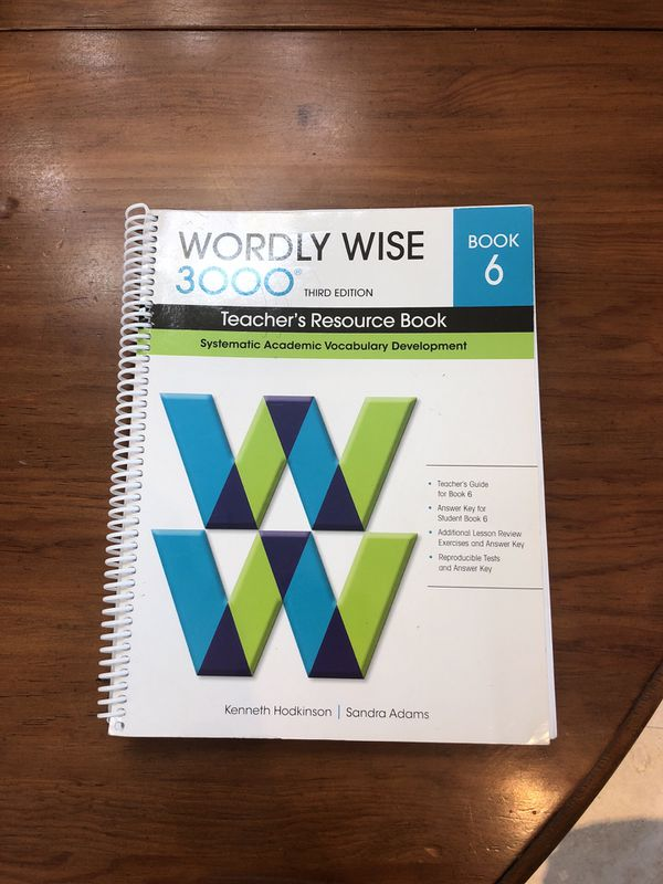 Wordly Wise Book 6 Teacher S Resource Book For Sale In Coral Gables FL OfferUp