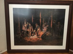 Limited 1244 of 1500 Eve of the Storm Civil War print in nice frame for Sale in Winter Park, FL