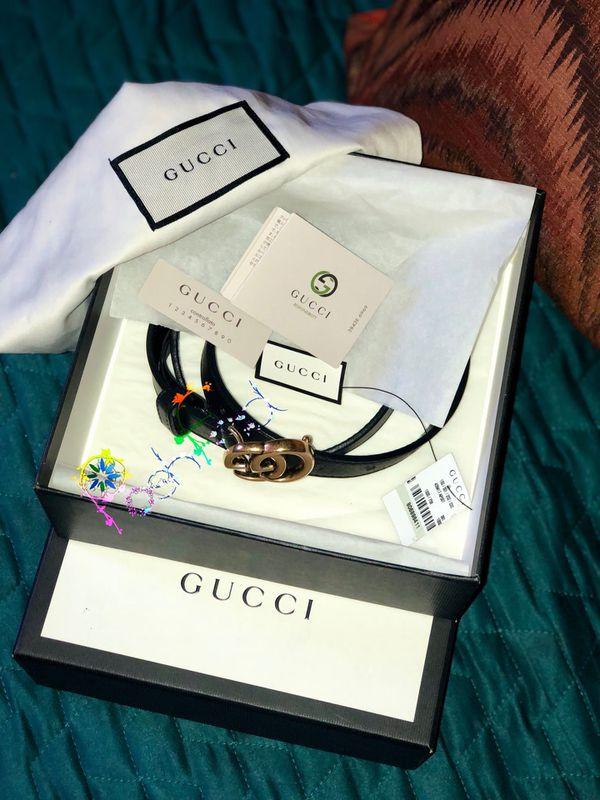 4f8205fb274 GUCCI .com 💯 Authentic Double G buckle Black Leather ❗️size 75cm 30 inch  waist Women s Belt❗ . Los Angeles ...