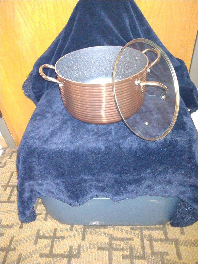 BRAND NEW Copper 8Qt Covered Stock Pot